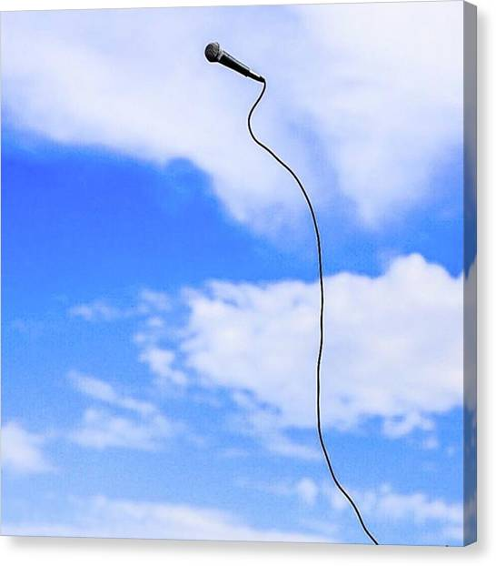 Microphones Canvas Print - Sunny by Mamiko Okano