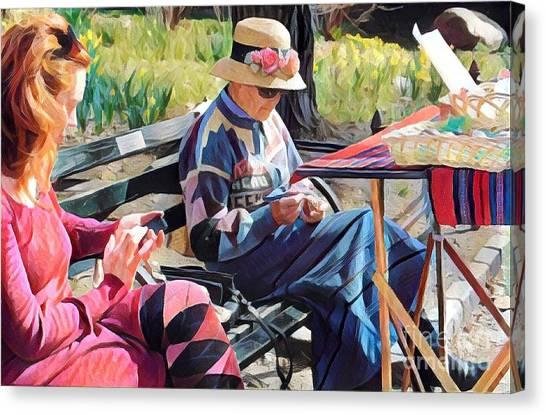 Sunday In The Park - Central Park New York Canvas Print by Miriam Danar