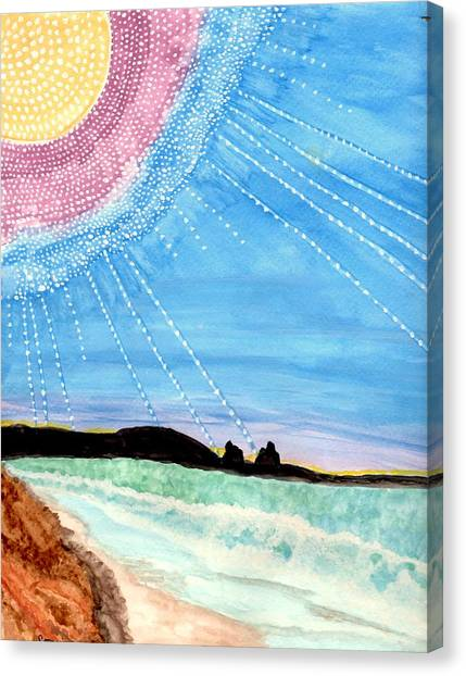Sunny Ocean Days Are Bigger Than Life Canvas Print