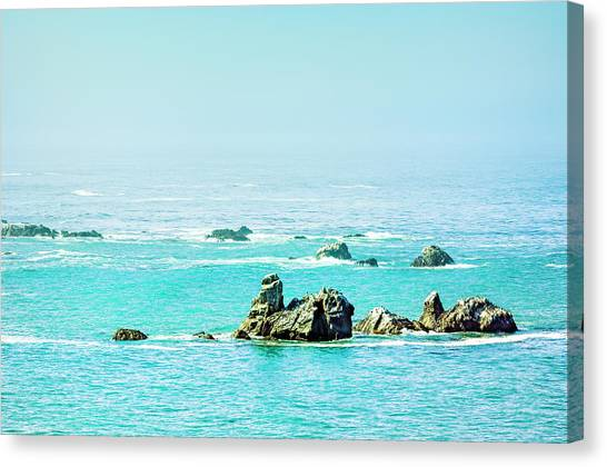 Sunny Pacific Ocean Oregon Coast Canvas Print