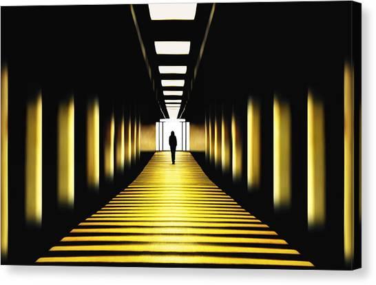 London Tube Canvas Print - Sunny Path by Samanta