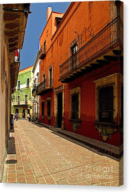 Sunny Street Canvas Print by Mexicolors Art Photography