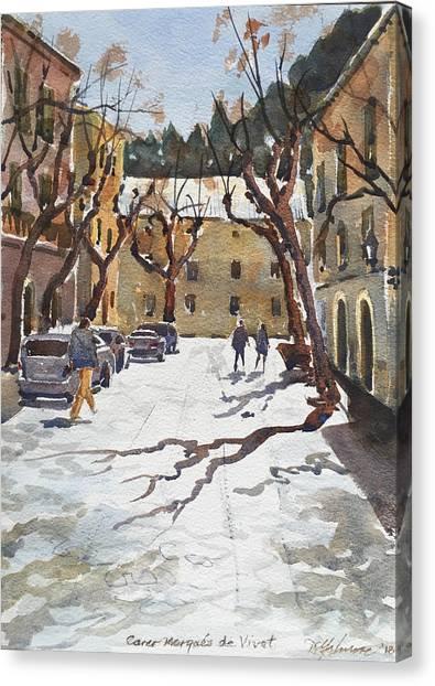 Sunny Street, Valledemossa Canvas Print