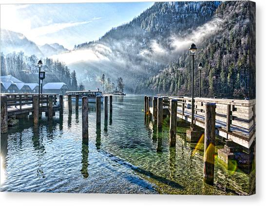 Sunny Winter Morning Canvas Print