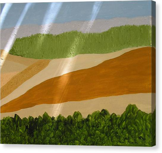 A Vista Of Valleys Canvas Print by Harris Gulko