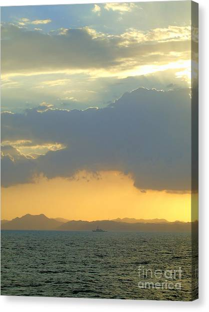 Sunrise After The Typhoon Canvas Print