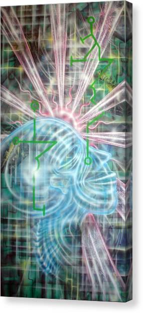 Sunrise Aia Canvas Print by Leigh Odom