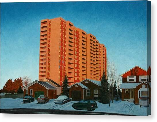 Sunrise Ajax Canvas Print by Allan OMarra
