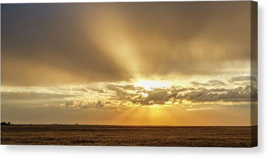 Canvas Print featuring the photograph Sunrise And Wheat 04 by Rob Graham