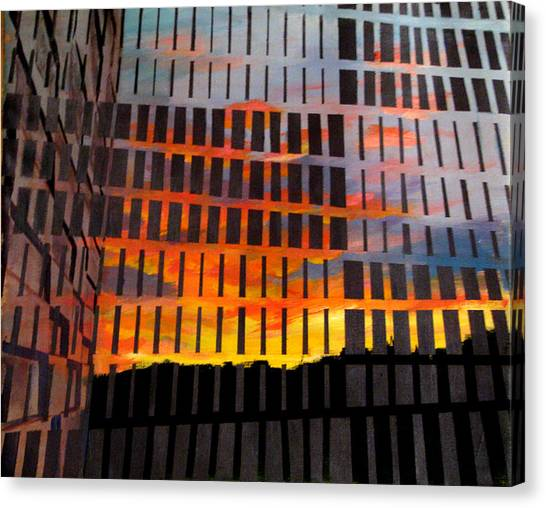 Sunrise Canvas Print by Art Nomad Sandra  Hansen