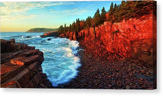 Otters Canvas Print - Sunrise At Acadia by ABeautifulSky Photography by Bill Caldwell