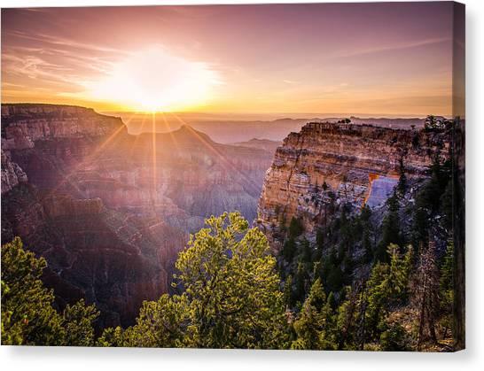 Sunrise At Angel's Window Grand Canyon Canvas Print