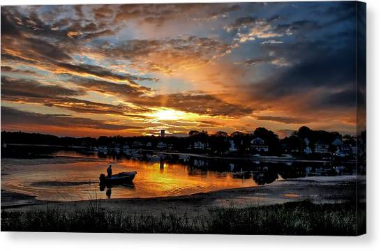 Sunrise At Back Cove Canvas Print