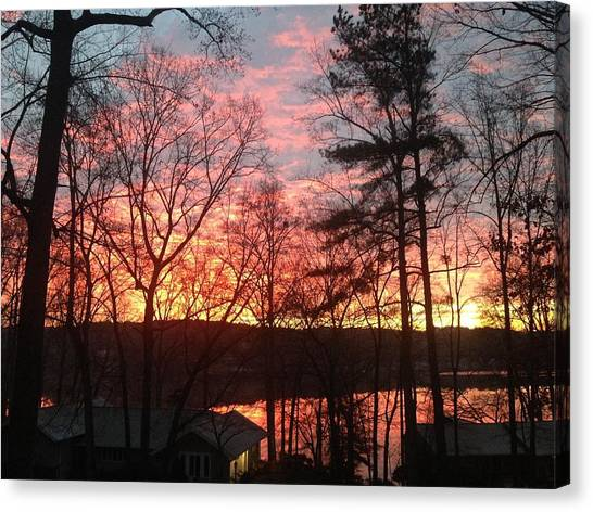 Sunrise At Carolina Trace Canvas Print