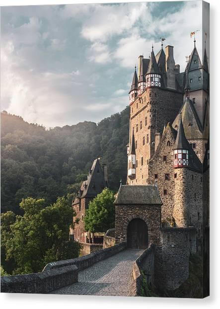 Sunrise At Castle Eltz, Germany Canvas Print