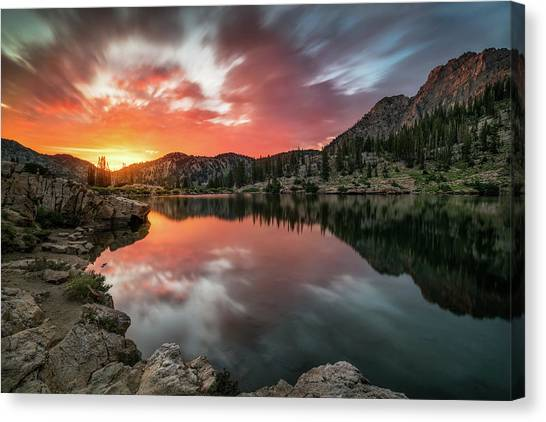 Sunrise At Cecret Lake Canvas Print