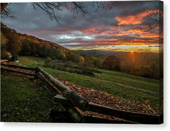 Sunrise At Cone House Canvas Print
