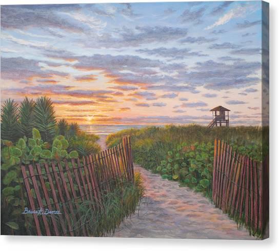 Sunrise At Delray Beach Canvas Print by Bruce Dumas