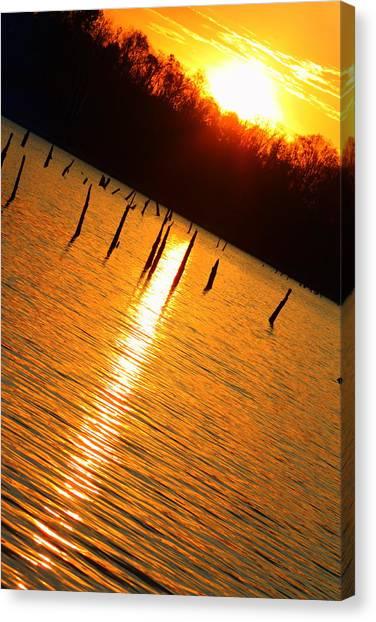 Sunrise At East Fork Oh Canvas Print