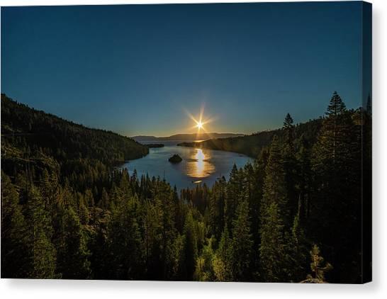 Sunrise At Emerald Bay Canvas Print