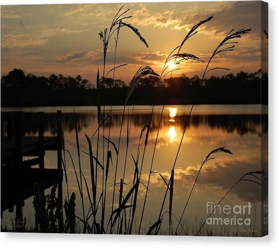 Sunrise At Grayton Beach Canvas Print