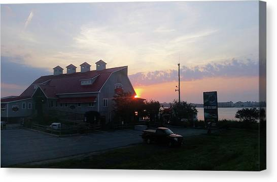 Sunrise At Hooper's Crab House Canvas Print