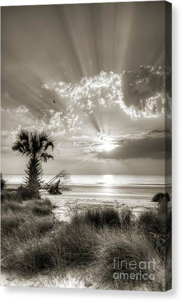 Beach Sunrises Canvas Print - Sunrise At Hunting Island State Park South Carolina by Dustin K Ryan