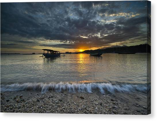 Sunrise At Lombok Canvas Print