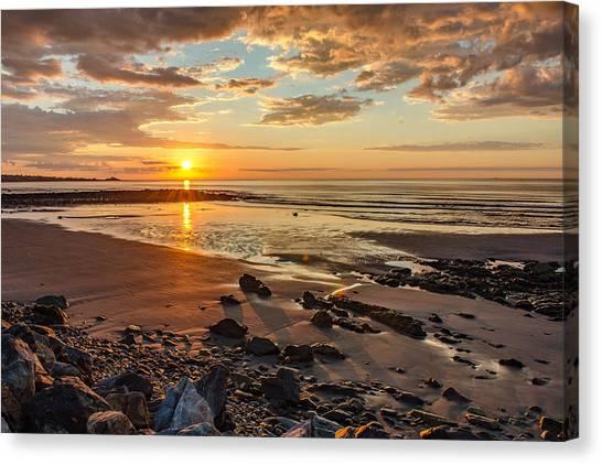Sunrise At Long Sands Canvas Print