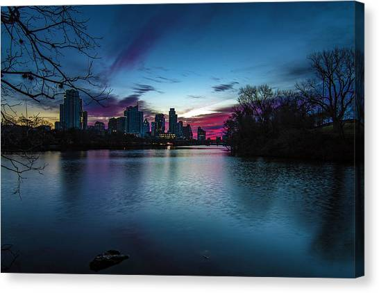 Sunrise At Lou Neff Point Canvas Print