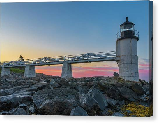 Sunrise At Marshall Point Canvas Print