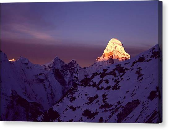 Himalayas Canvas Print - Sunrise At Mt. Ama Dablam by Pal Teravagimov Photography