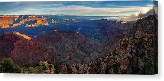 Sunrise At Navajo Point Canvas Print