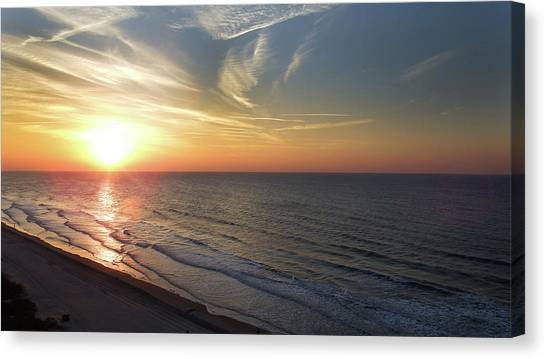 Sunrise At North  Myrtle Beach Canvas Print