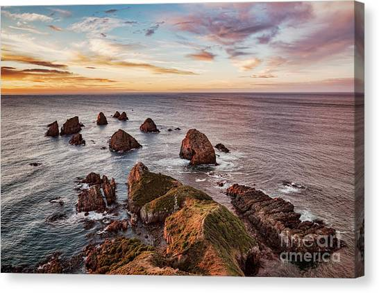 Seascape Canvas Print - Sunrise At Nugget Point by Colin and Linda McKie