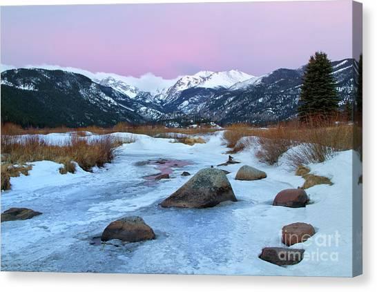 Sunrise At Rocky Mountain National Park Canvas Print