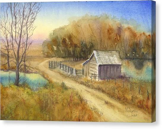 Sunrise At Sandstone Canvas Print