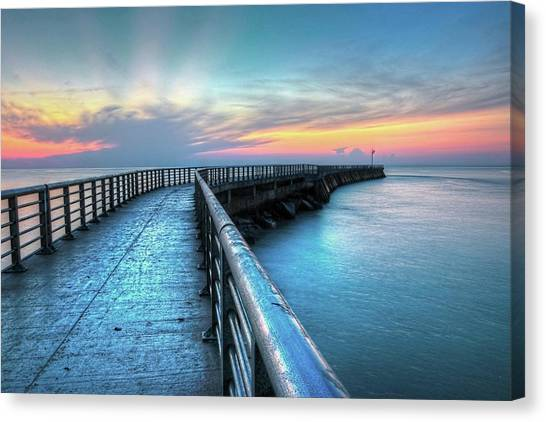 Sunrise At Sebastian Inlet Canvas Print