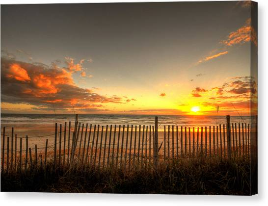 Flagler Beach Canvas Print - Sunrise At Snack Jacks by Andrew Armstrong  -  Mad Lab Images