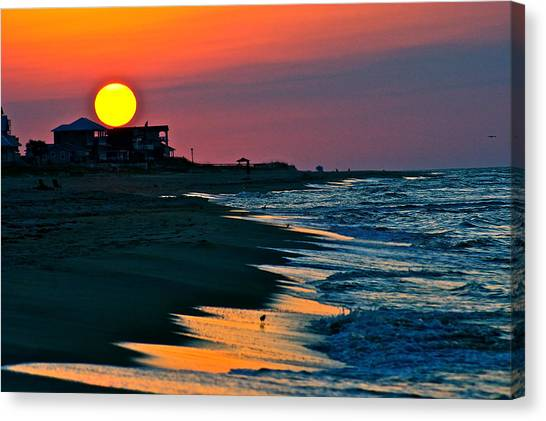 Sunrise At St. George Island Florida Canvas Print