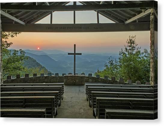 Sunrise At Symmes Chapel Aka Pretty Place  Greenville Sc Canvas Print