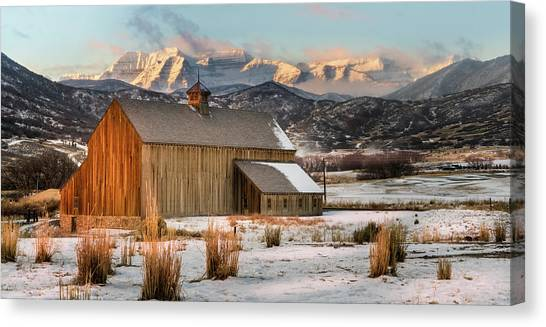 Sunrise At Tate Barn Canvas Print