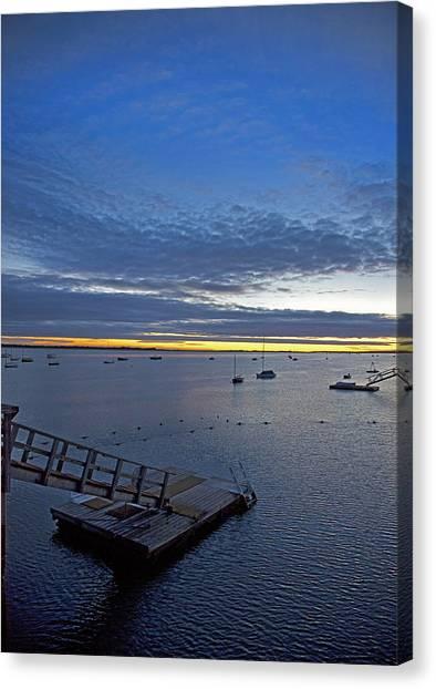 Sunrise At The Barnstable Yacht Club Canvas Print