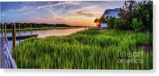 Sunrise At The Boat Ramp Canvas Print