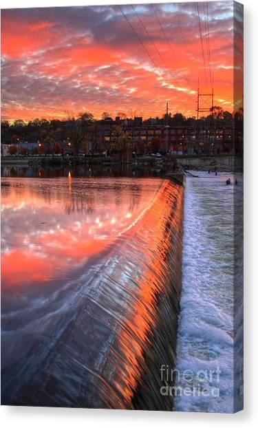 Sunrise At The Dam Canvas Print