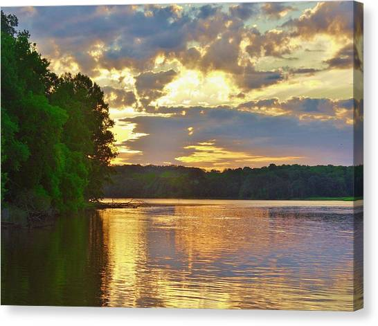 Sunrise At The Landing Canvas Print