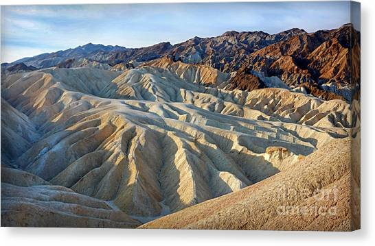Sunrise At Zabriskie Point Canvas Print