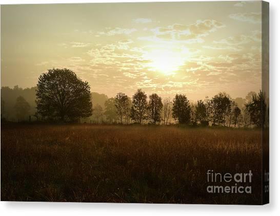 Sunrise Autumn Equinox 2017 Canvas Print