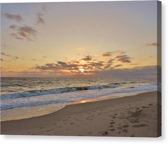 Canvas Print - Sunrise Beach by Red Cross