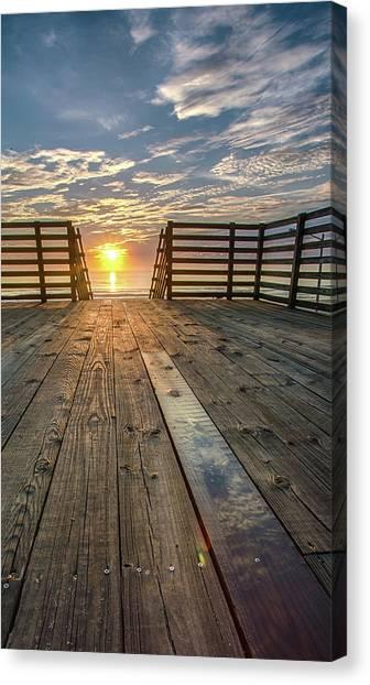 Sunrise Boardwalk Canvas Print